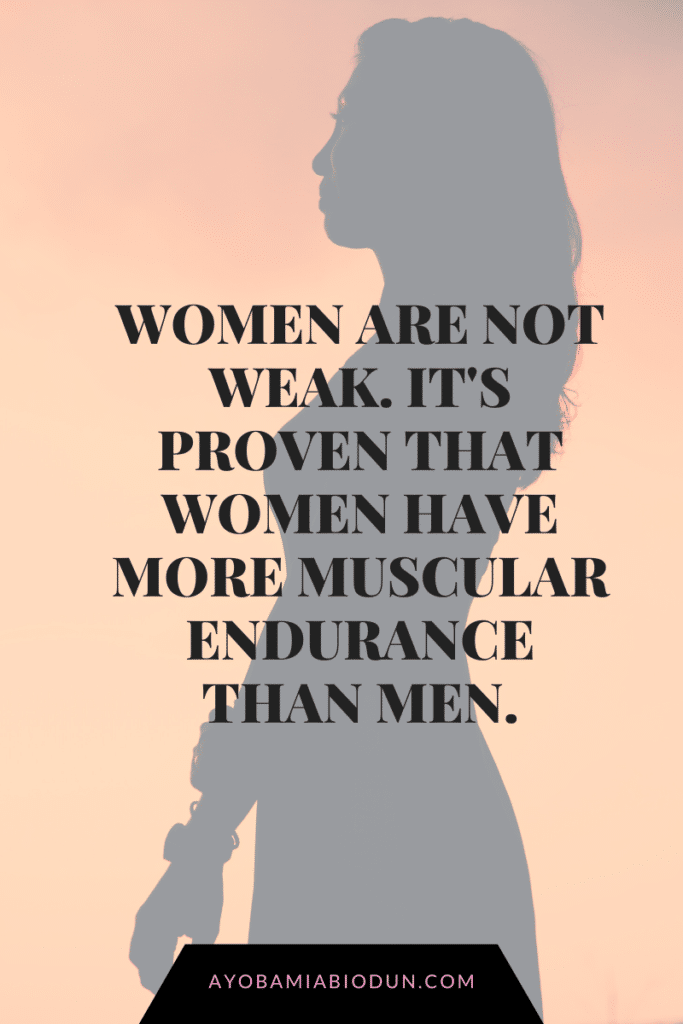 women are not weak