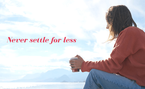 settle for less
