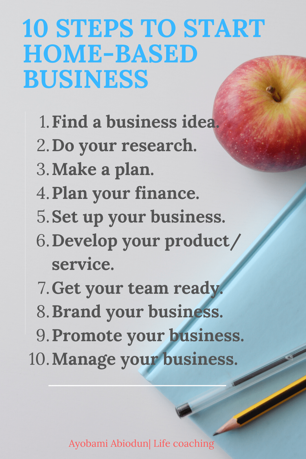 steps to start a home-based business
