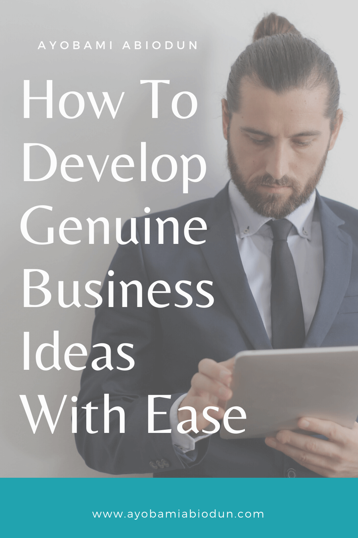 genuine business ideas